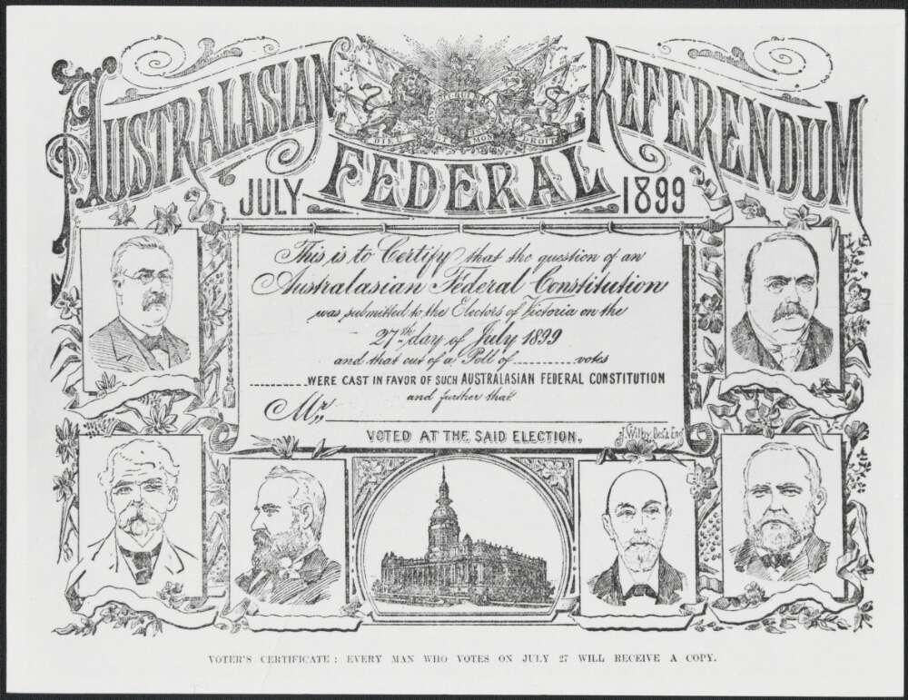 Federation of Australia Proclaimed c 1901