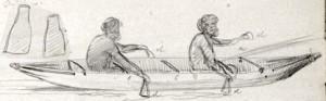 Canoe - Gippsland 25 Nov 1860