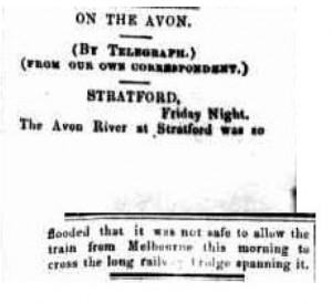 Rail Bridge Flood 1896