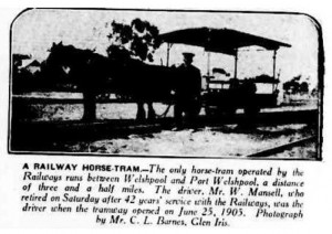 Welshpool Tram Article 1930 - Small