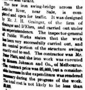 Swingbridge Open 20 Oct 1883