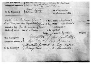 Batman Papers - Marriage Certificate 1828