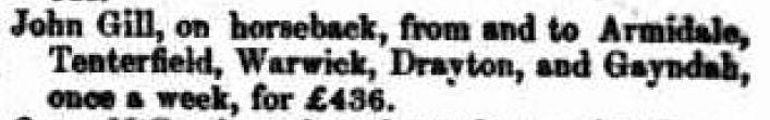 Post Tenders Qld 1851