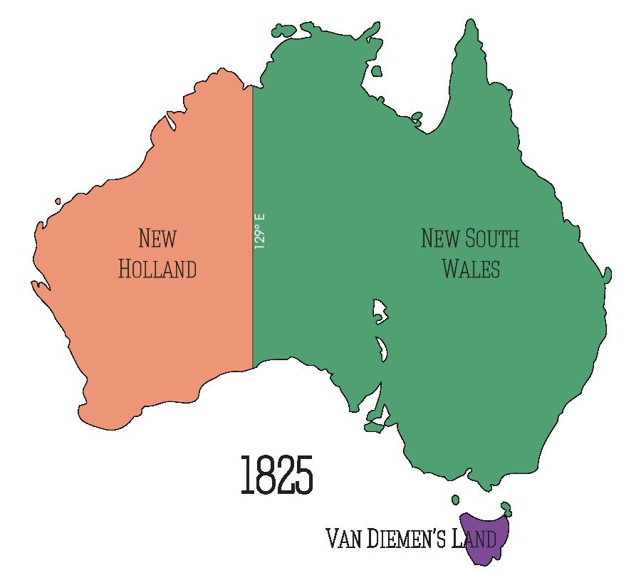 Australia's Regions c 1825