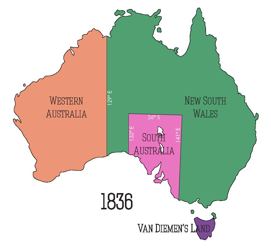 Australia's Regions c 1836