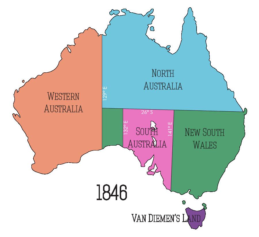 australias regions c 1846 north australia