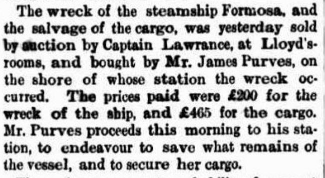 Argus (Melbourne, Vic) - Formosa - 9 Feb 1869
